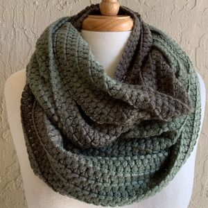 Accessories - Olive Green Ombré Infinity Scarf